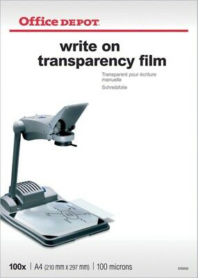 Office Depot Write-On Transparency Film For Black and White Copiers Pack of 100
