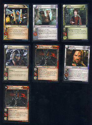 7 ct lot of Lord of the Rings cards with foils
