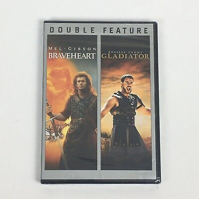 BRAVEHEART / GLADIATOR DVD Double Feature New Sealed