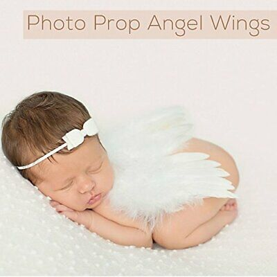 Gift Set Organic Hooded Baby Towel Swaddle Angel Wings Baby Photography Props