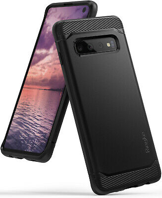 Samsung Galaxy S10, S10 Plus, S10e Ringke [Onyx Black] TPU Shockproof Cover Case