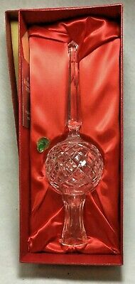Waterford Lismore Diamond Crystal Christmas Tree Topper in Original Box Vintage