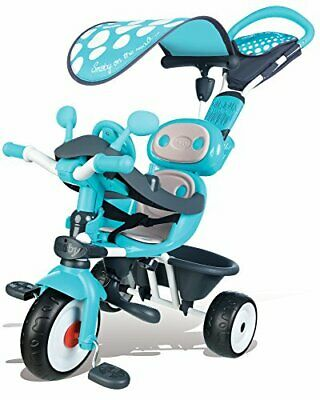 Smoby - Triciclo Baby Driver Confort Sport, Color Azul (7(Azul)