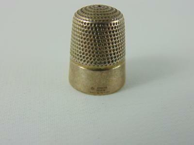 "Sterling Silver Thimble Doskow Made In England Sterling Tailor Thimble .9"" Tall"
