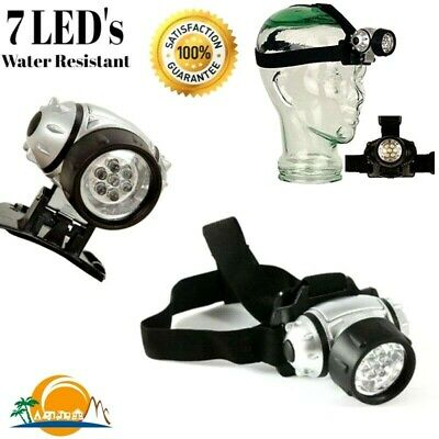 LED Head Torch Light Lamp for Camping Hiking Fishing Work Powerful Adjustable