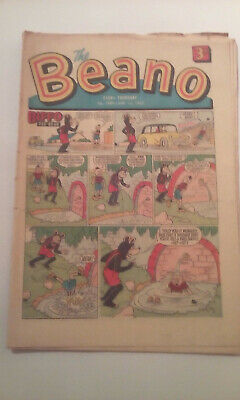 Retro Beano Comic from 1967 #1289 First Billy the Cat edition