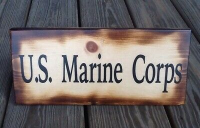 Distressed US Marine Corps 1775 Wooden Sign