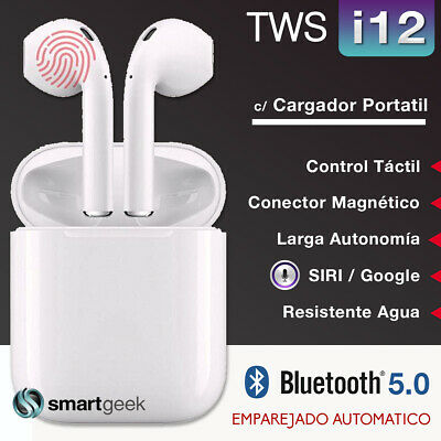 AURICULARES TWS i10 MAX Bluetooth Stereo Apple iPhone CAJA BASE CARGA AirPods