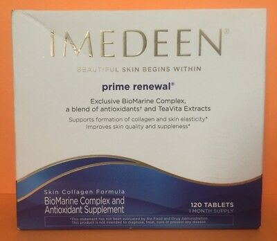 IMEDEEN Prime Renewal Skincare 120 Tablets 1 Month Supply Exp. May 2019 - New -
