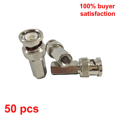 50pcs Twist-on BNC Male RG59 Connector for CCTV cameras