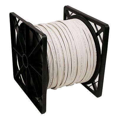 500FT RG59 Siamese 20AWG + 2C/18AWG Coaxial Cable CCTV White Color