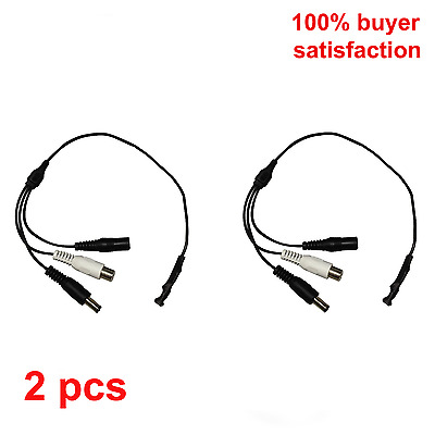 "2 Pieces CCTV Security Camera 12"" audio cable W / Microphone & Amplifier"