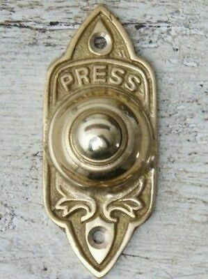 Solid Brass Bell Push Door Bell Push Wired (Antique Vintage Style)