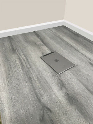 8mm Modern Grey Laminate Wood Flooring - Click System - V Groove - High Quality