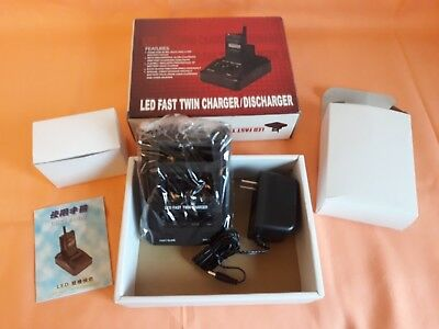 LED Fast Twin CHARGER/DISCHARGER for MOTOROLA CARICA-SCARICA Telefono Vintage !