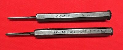 2 Vintage RAWLPLUGS No. 8 with RAWLDRILL bits