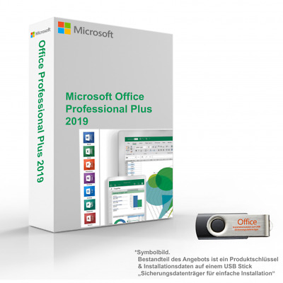 Microsoft Office 2019 Professional Plus 5 Activations| Key | + USB