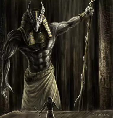 Ancient Egyptian Anubis wall decoration fabric poster paintings paint mythology