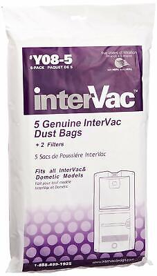 Garagevac Y08-5 Replacement Dust Bag - Pack Of 5 Bags Intervac Vacuum Filter 5pk