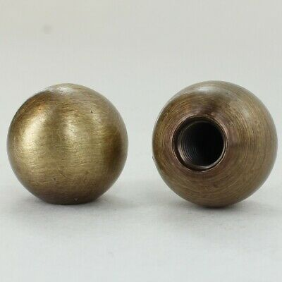 "5/8"" Diameter ~ SOLID BRASS BALL FINIAL ~ Antique Brass Finish ~ #GB13-AB"