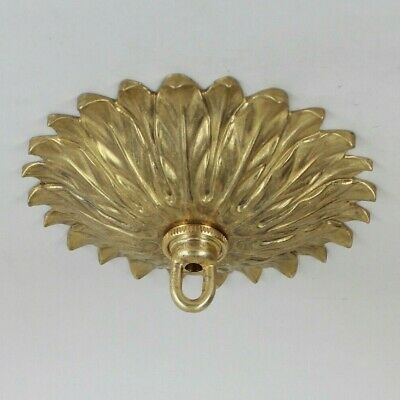 SUNFLOWER DESIGN ~ { Unfinished Brass } CEILING LIGHT PENDANT CANOPY KIT ~
