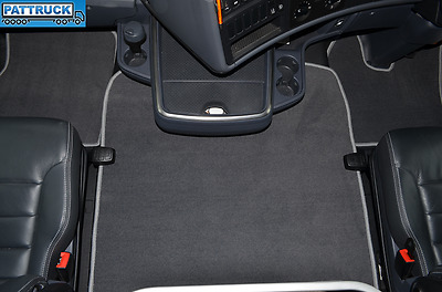 Velour  Floor Mats Set- Grey , Fit  Scania R  2013-17 Streamline , Air Seats