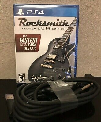 Rocksmith PS4 Real Tone Cable Included Brand New Sealed 2014 Edition- Free Ship