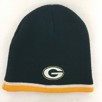 NFL Green Bay Packers Embroidered Knit Beanie Hat Unisex One Size Fits All cd6b6cb16