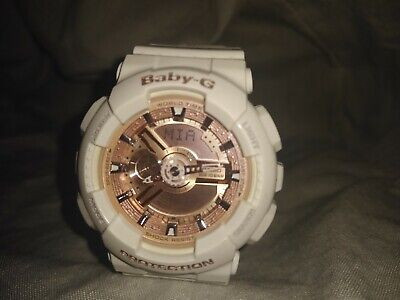 Baby- G Casio digital watch women rose gold & white