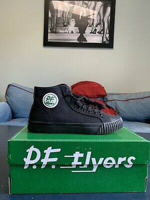 PF Flyers Men s Shoe Sandlot Center Hi - Black Black 4e9371930