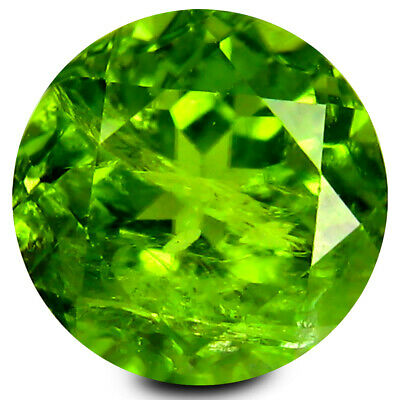 4.47 ct Mind-Boggling 10 mm Round Shape Un-Heated Green Peridot Natural Gemstone