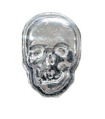 2 Troy Ounce Silver Skull / Bar | .999 | Hand Poured