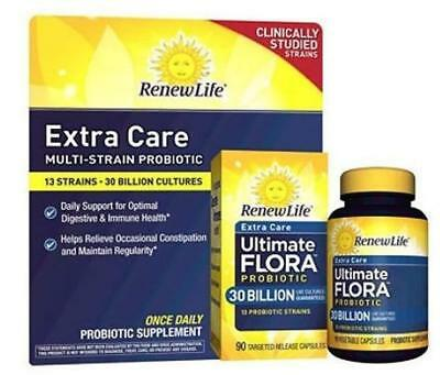 RenewLife Ultimate Flora Probiotic 30 Billion - 90 Capsules - Exp 1/19 Pack of 2