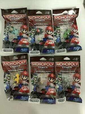 Monopoly Gamer: Mario Kart Power Packs Complete Set All 6 Characters / Figures
