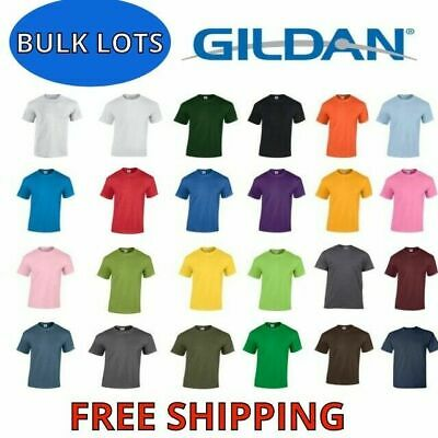 Gildan Men's Heavy Cotton T-Shirt (Pack of 3) Bulk Lot Solid Blank 5000 NEW S-XL