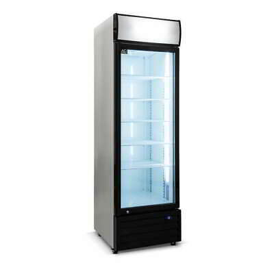 Single Door 420L Commercial Upright Glass Display Drinks Showcase Fridge