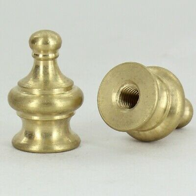 PYRAMID ~ Solid Brass Lamp Finial ~ Unfinished Brass ~ #GB41
