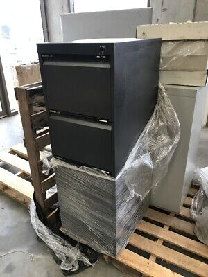 Steel Four Drawer File Cabinet With Key Lock In Graphite