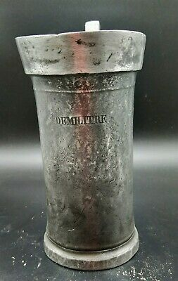 Antique Pewter French DEMILITRE  - Hallmarked