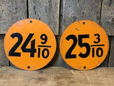 Pair Of Vintage GULF Gas Service Station Double Sided Pricers