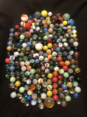 Vintage Glass Marbles Lot of Approx 300