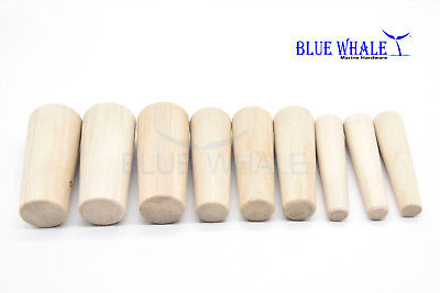 Tapered Conical Thru-hull Soft Wood Plugs Set of 9 pcs 3 Sizes BL29576531