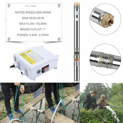 "3"" 0.5HP Stainless Steel Submersible Bore Pump Deep Well Stainless Steel 240v AU"