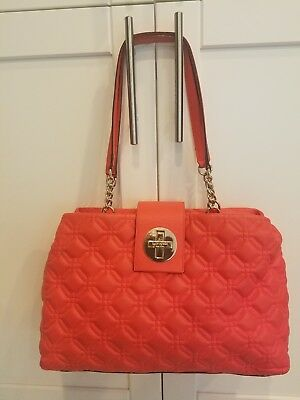 288f4329626c KATE SPADE ASTOR Court Elena Coral Quilted Leather Tote Bag -  18.00 ...