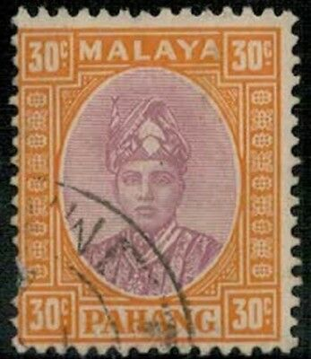 Lot 5358  - Malaya (Pahang) 1935 30c purple & orange  Sultan Sir Abu Bakar stamp