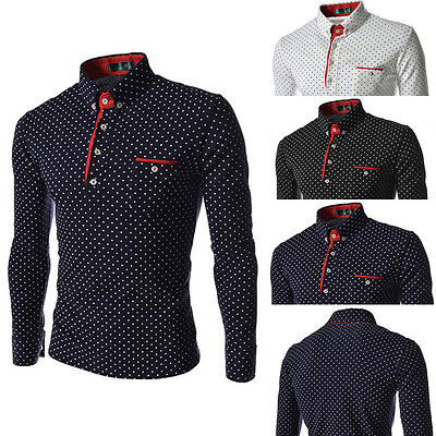 Mens Casual Slim Fit Luxury Stylish Fashion Long Sleeve Shirt Shirts Top Dress