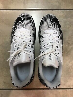 MEN'S NIKE AIR MAX INFURIATE LOW BASKETBALL SHOES SIZE 13 - White & Black