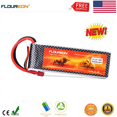 Floureon 3S 11.1V 4500mAh 30C T Plug LiPo Battery Pack for RC Truck Airplane US