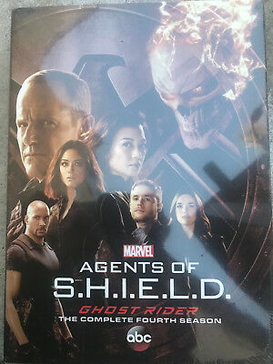 Marvel's Agents of Shield S.H.I.E.L.D Complete Season 4 DVD's w/ Slip Cover New!