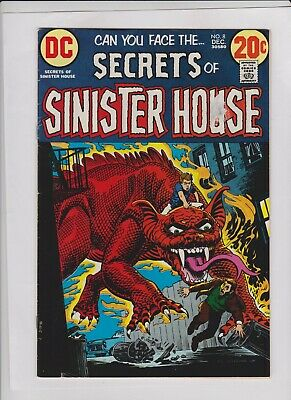 SECRETS OF SINISTER HOUSE #8 Fine+, Nick Cardy cover DC 1972,  low cost copy